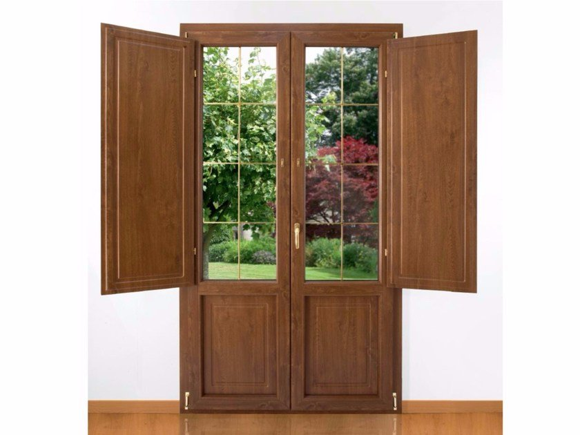 With built-in panel shutters PVC patio door RUBINO | With built-in panel shutters patio door by Cos.Met.