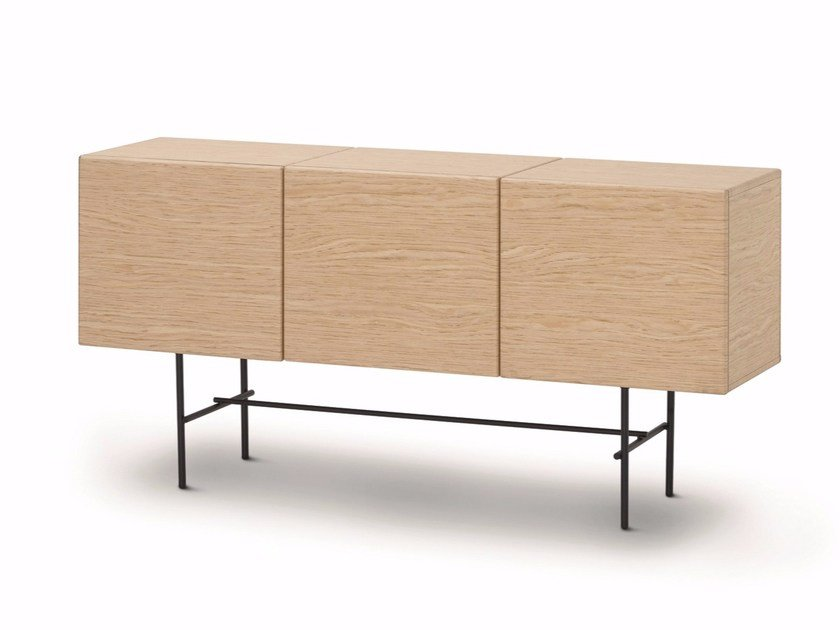 Wooden sideboard with doors RUBYCON | Wooden sideboard by arflex