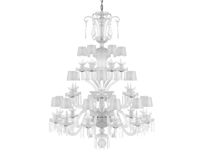 Direct light handmade Frosted Crystal chandelier RUDOLF CONTEMPORARY COLOUR by PRECIOSA Lighting