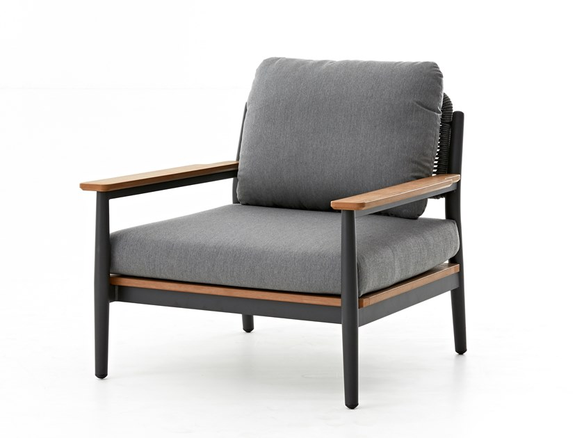 Garden armchair with armrests RUGBY | Garden armchair by Kun Design