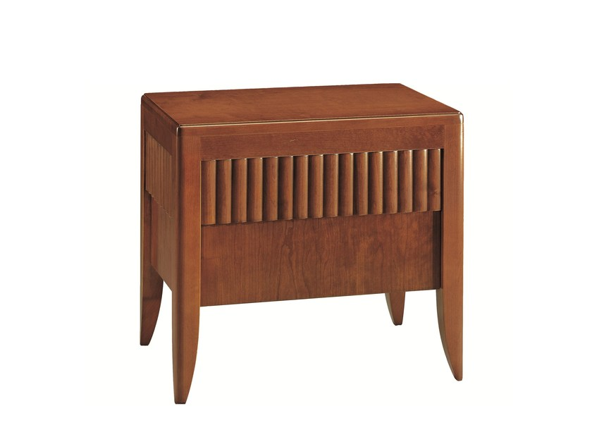 Cherry wood bedside table with drawers '900 RULMAN | Bedside table by Morelato