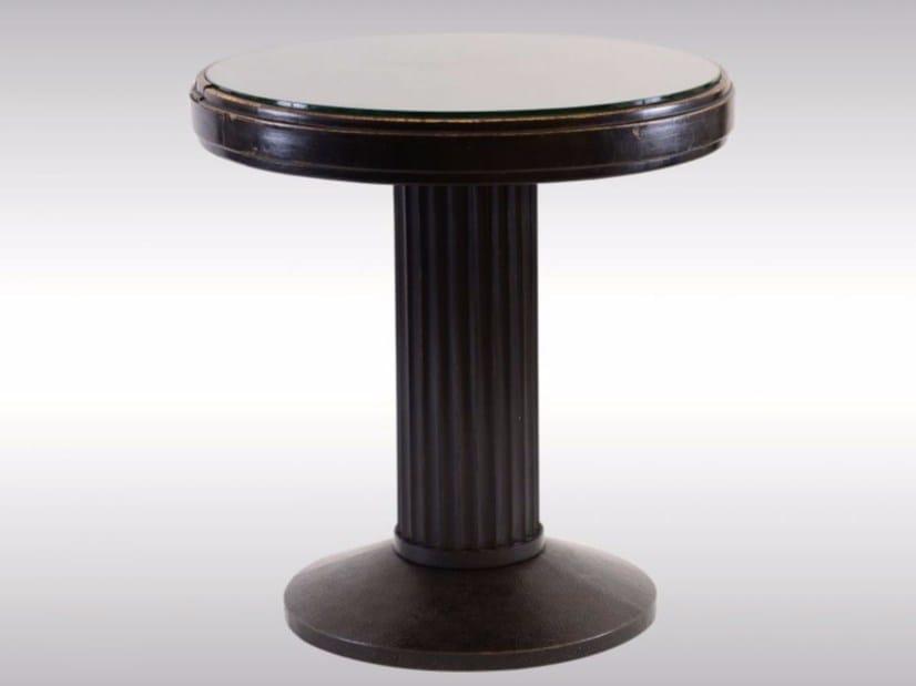 Round wooden table RUNDER KAFFEETISCH by Woka Lamps Vienna