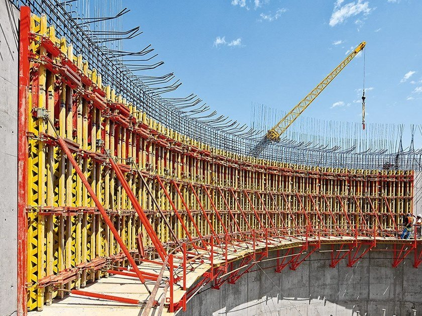 Formwork and formwork system for concrete RUNDFLEX By PERI