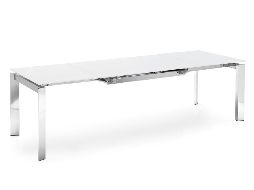 Extending rectangular dining table RUNWAY by Calligaris