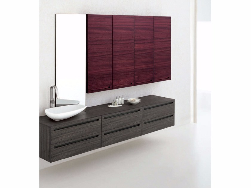 Zebrano bathroom cabinet / vanity unit RUSH - COMPOSITION 8 by Arcom