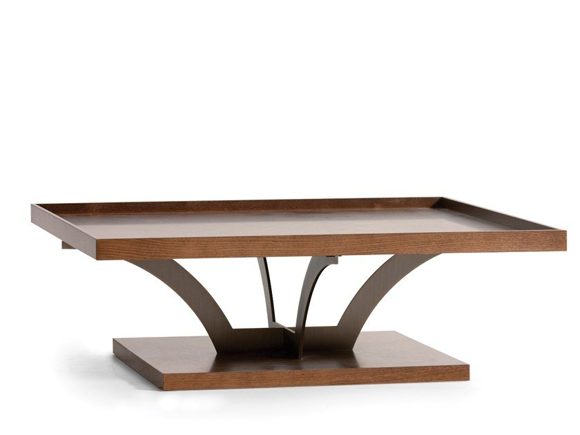 Wooden coffee table with tray RUSLAN | Rectangular coffee table by OPERA CONTEMPORARY