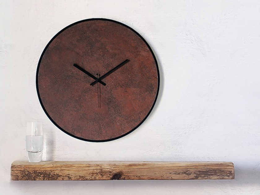 Wall-mounted wooden clock RUST by xline