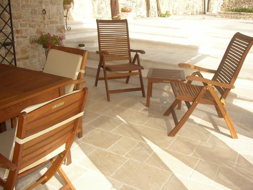 Anti-slip frost proof natural stone flooring RUSTICA ANTIQUE SATIN by Naturalmente Puglia