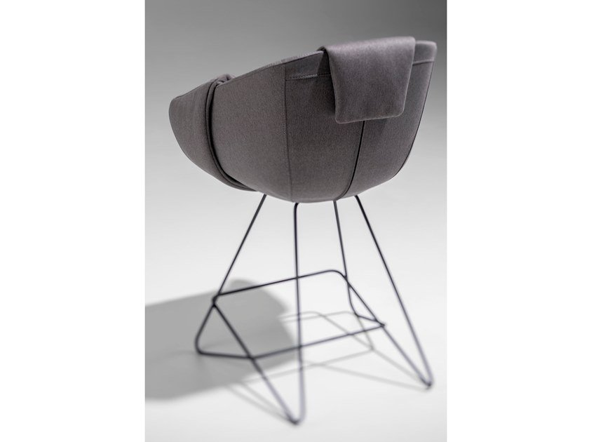 High fabric stool with back RUVO by Nunc
