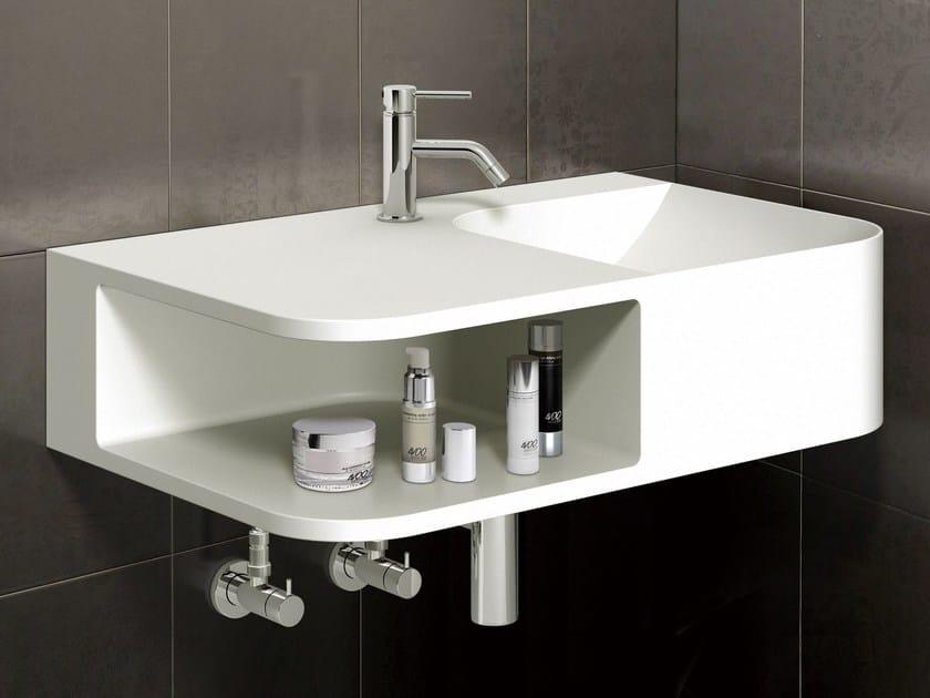 Wall-mounted marble washbasin RADII75 by Sanwa Company