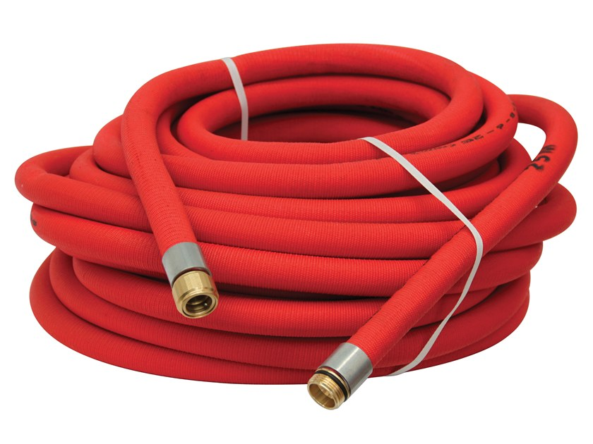 Component for fire-fighting systems Red tube for assembled hose reel by R.M. MANFREDI