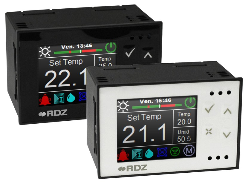 Heat regulation and hygrometric control Regolazione Trio Plus by RDZ