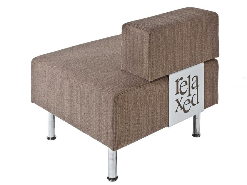 Fabric lobby chair Relaxed by MASCAGNI