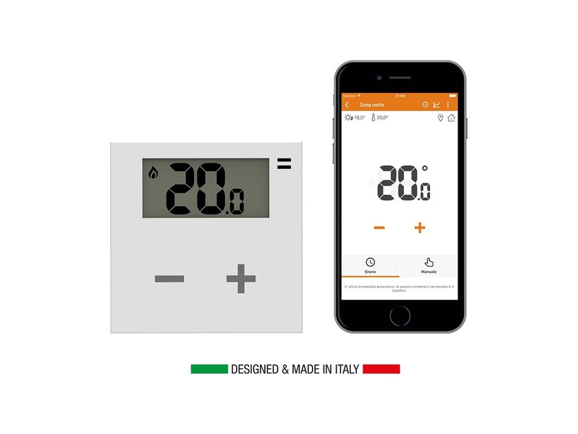 Smart domestic heating via Wi-Fi thermostat and App Rialto Thermo Kit by ASTREL GROUP