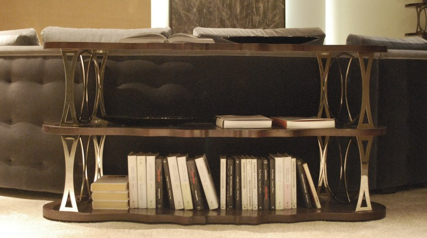 Open double-sided wooden bookcase MISTRAL | Open bookcase by Carpanelli Contemporary