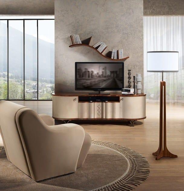 Contemporary style wooden wall cabinet Ripiano ad onda by Carpanelli Contemporary