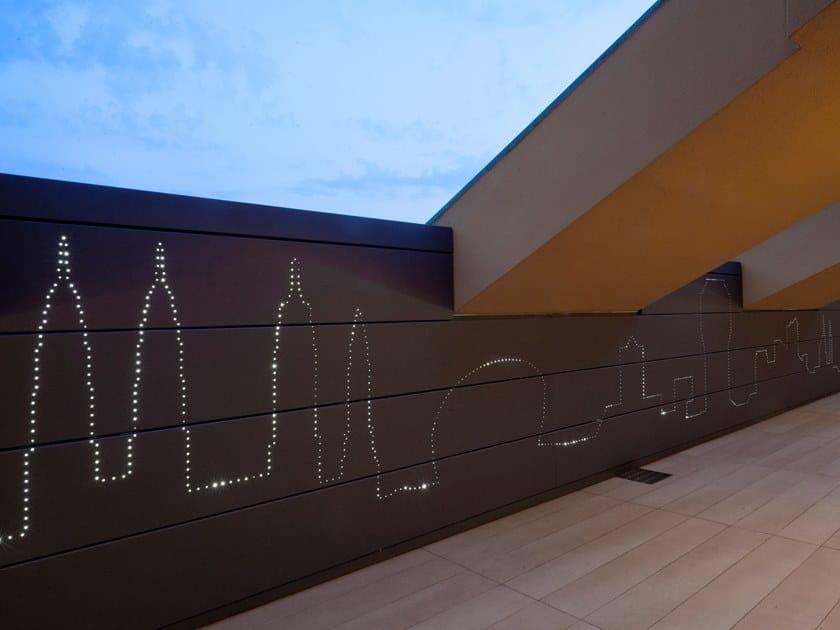 Indoor Titanium-Zinc wall tiles Titanium-Zinc wall tiles by Cantori Alluminio