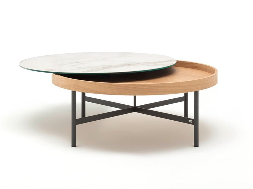 Round coffee table ROLF BENZ 8290 by Rolf Benz
