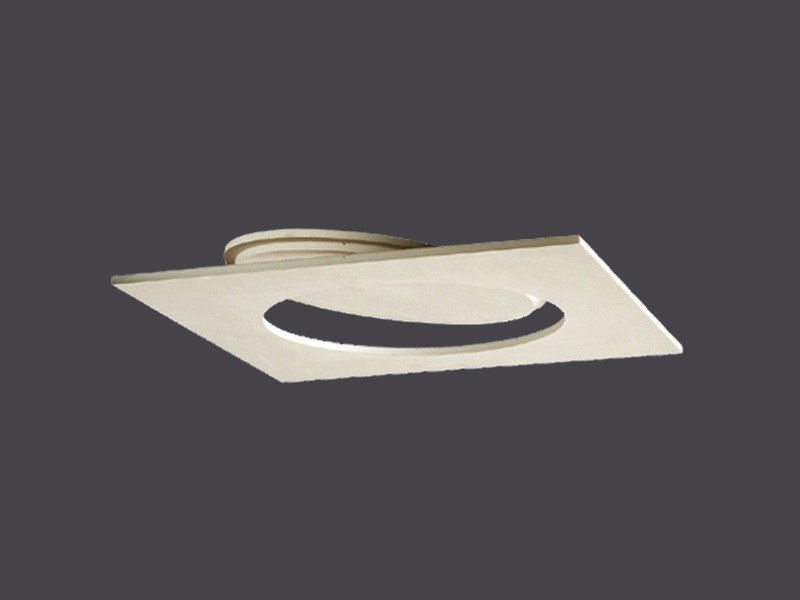 Plasterboard hatches with round opening for false ceilings ROUND SLIM HATCH DOORS IN PLASTERBOARD by Gyps