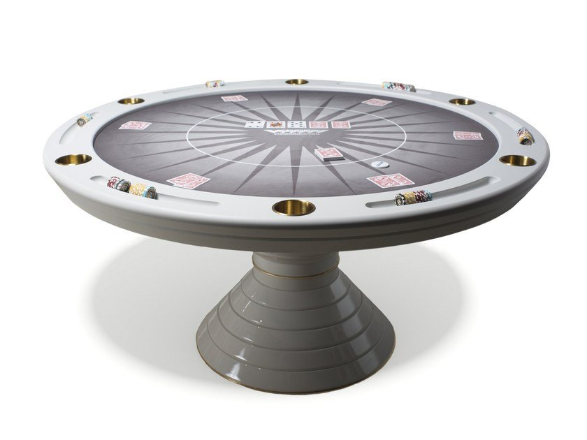 Round game table Round poker table by Vismara Design