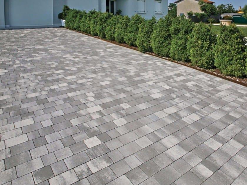 concrete paving block rustico by micheletto