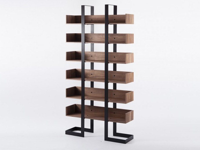 Charming Open Freestanding Wooden Bookcase SÉVERIN 3 | Bookcase By Alex De Rouvray Nice Look