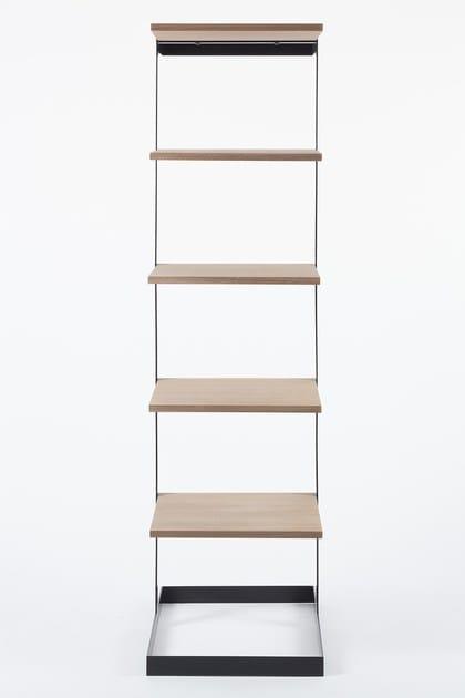 Steel And Wood Coat Rack With Shelves SÉVERIN | Coat Rack By Alex De Rouvray  Design Alex De Rouvray