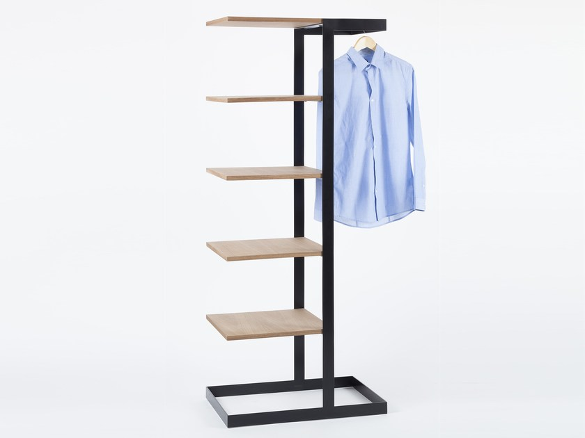 Steel And Wood Coat Rack With Shelves SÉVERIN Coat Rack By Alex De Cool Wood Coat Racks