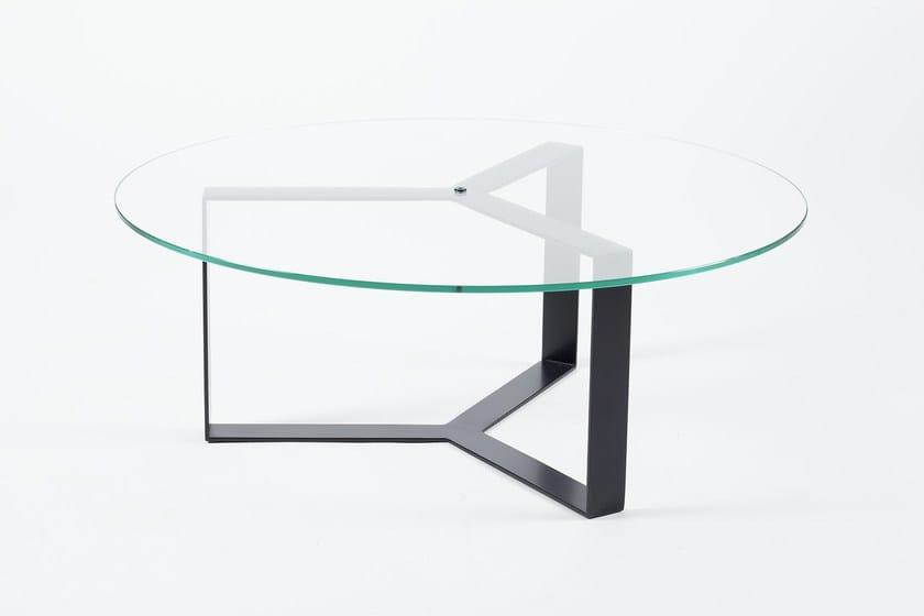 Tavolini In Vetro E Acciaio : SÉverin tavolino rotondo by alex de rouvray