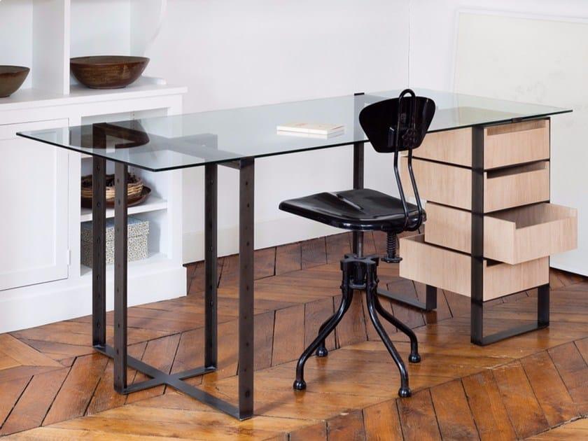 s verin 2 scrivania con cassetti by alex de rouvray. Black Bedroom Furniture Sets. Home Design Ideas