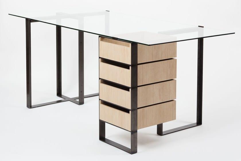 Scrivania rettangolare con cassetti sÉverin scrivania con