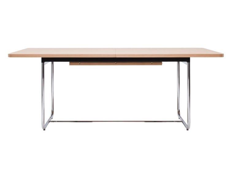 Extending rectangular table S 1072 by Thonet