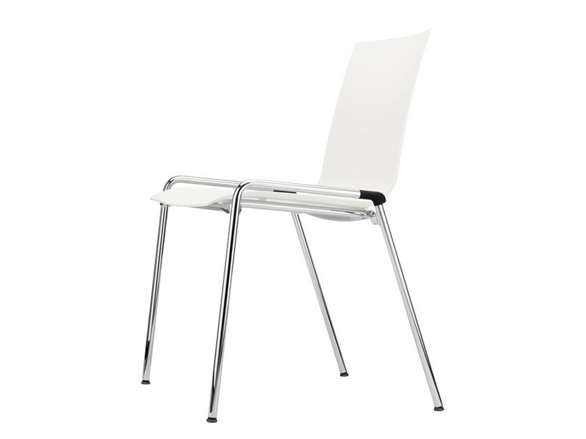 Stackable plastic training chair S 260 by THONET