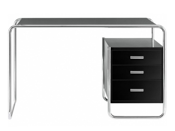 Rectangular writing desk with drawers S 285/2 by THONET