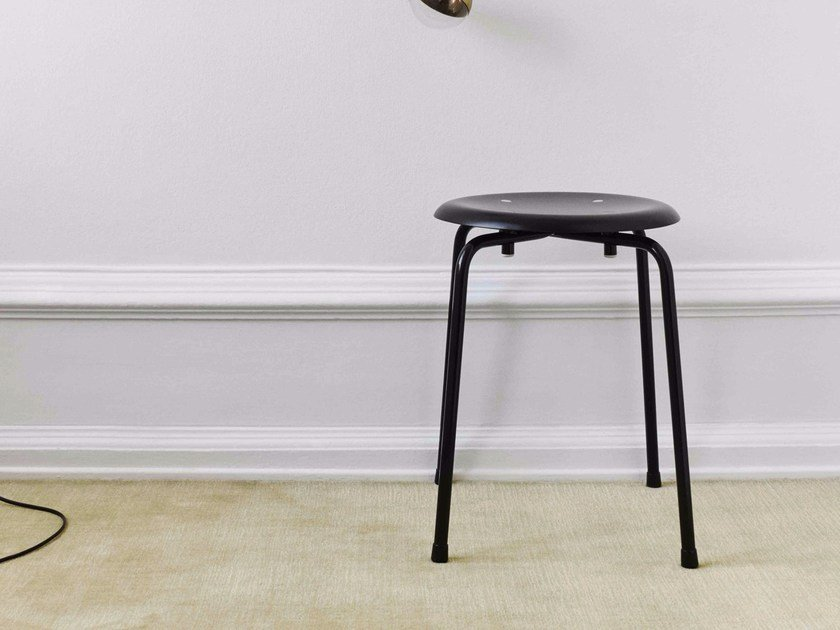 Low stackable stool S 38 S/1 by WILDE+SPIETH