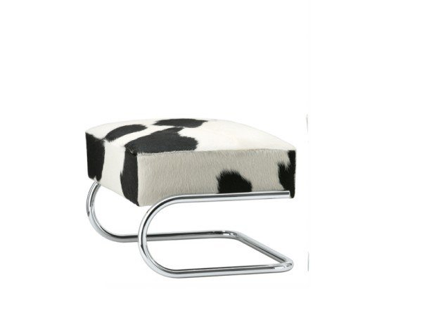 Cowhide footstool S 411 LVH by Thonet