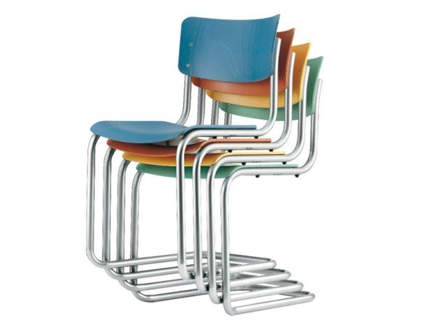 Cadeira cantilever empilhável S 43 ST by THONET