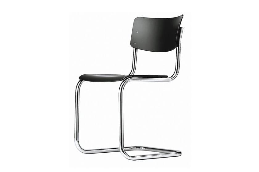Sedia a sbalzo con seduta e schienale in compensato sagomato S 43 by Thonet