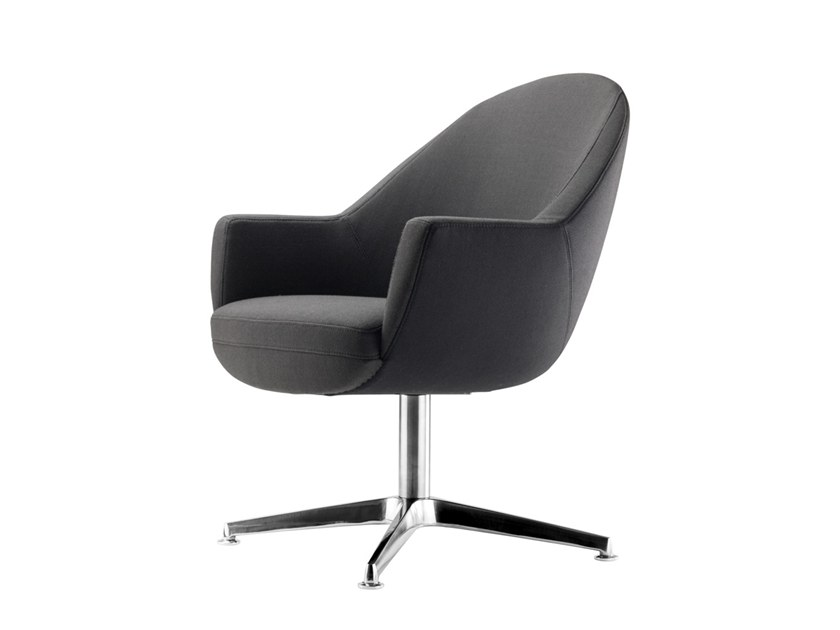 Easy chair with 4-spoke base S 833 by THONET