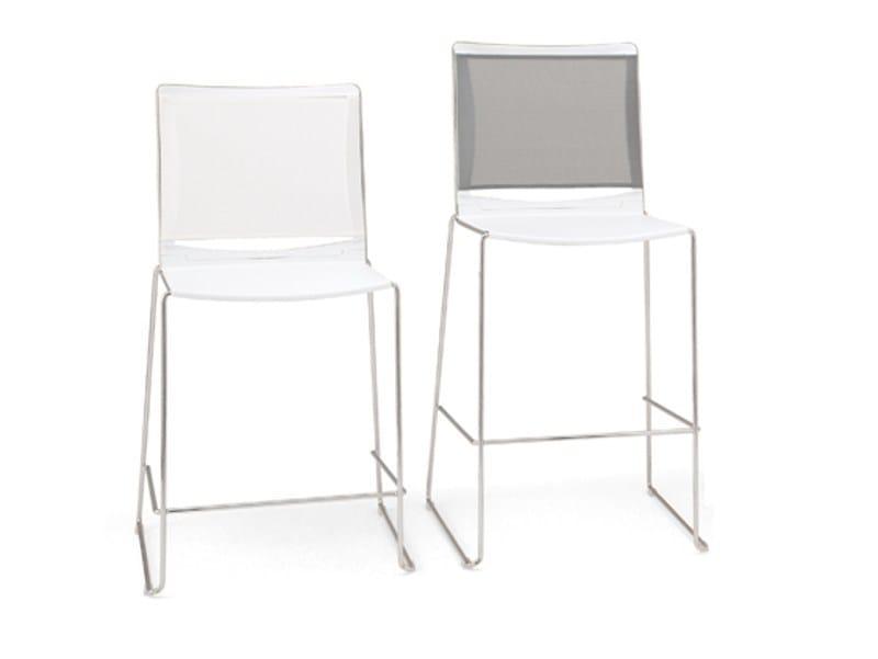 Sled base polypropylene chair S'MESH PLASTIC | Chair by Diemmebi