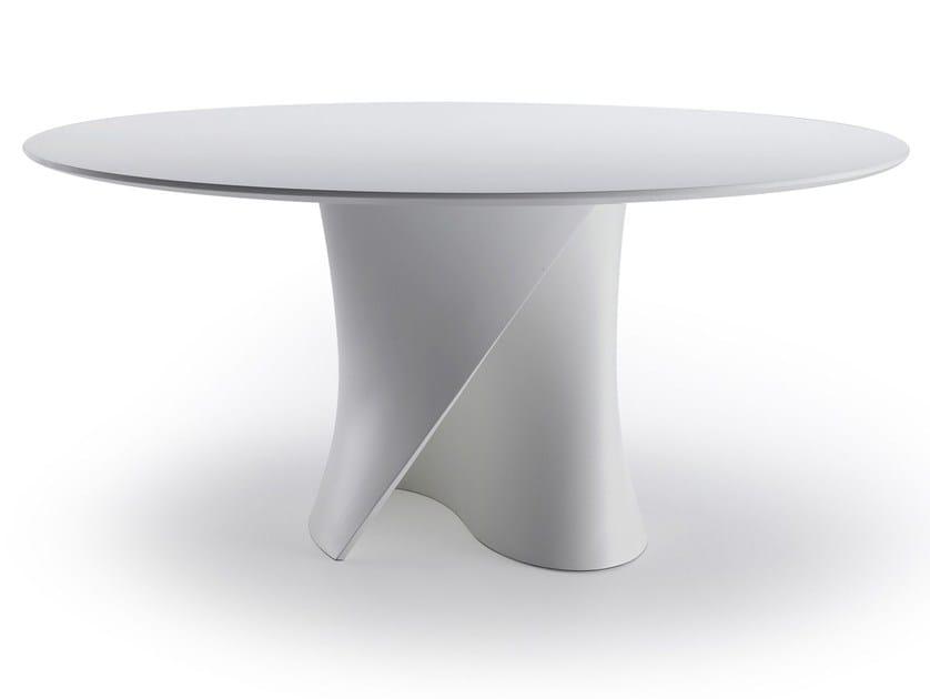 Tavolo rotondo in Cristalplant® S TABLE | Tavolo in Cristalplant® by MDF Italia