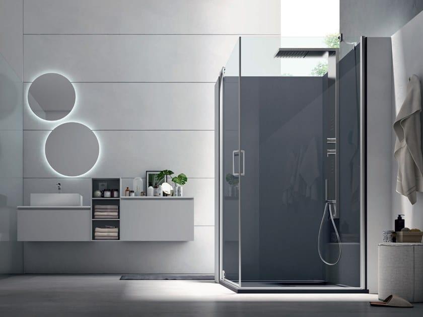Corner shower cabin with pivot door S6 PERFORMANCE - 120 X 80 | Shower cabin with pivot door by Arcom