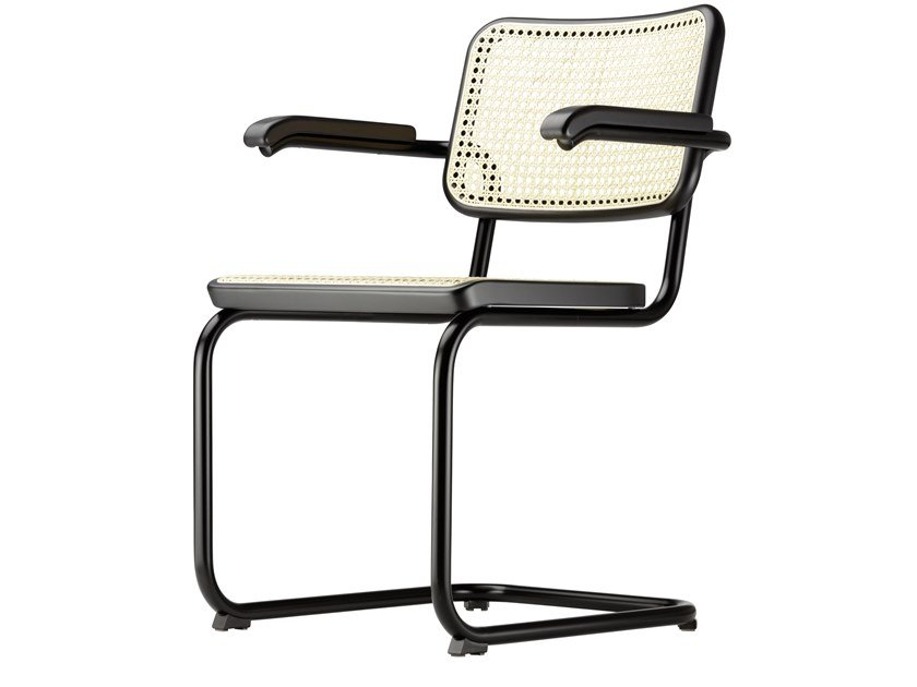 Steel chair with armrests S 64 by Thonet