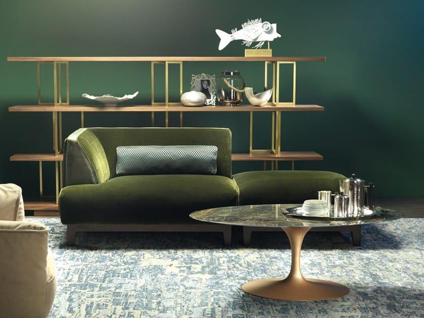 Oval marble coffee table SAAR by Borzalino