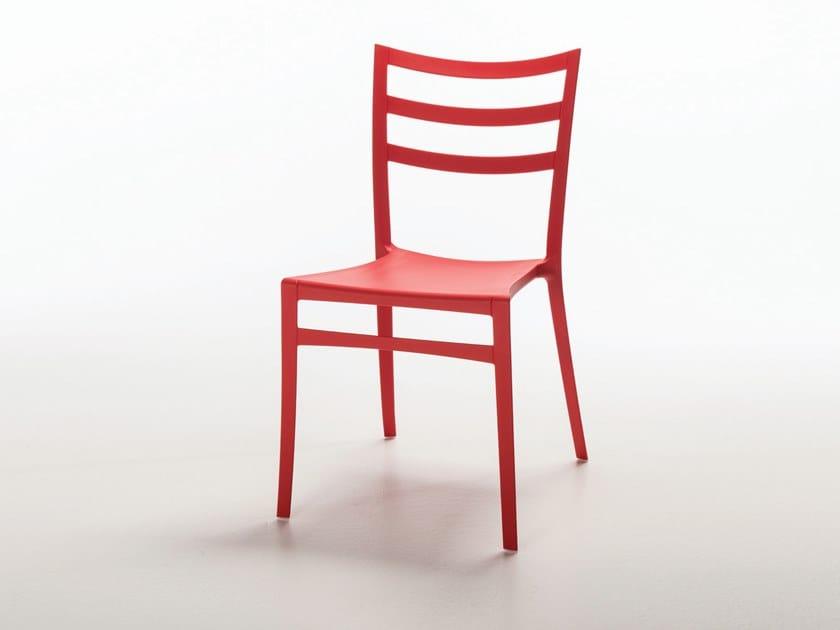 Sedie In Polipropilene Da Giardino.Sedia Da Giardino In Polipropilene Sabrina By Casprini Design