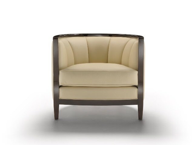 Armchair with armrests SACHA by HUGUES CHEVALIER