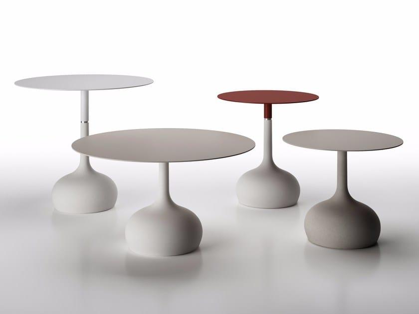 Round cement table SAEN XS - SN3 by Alias