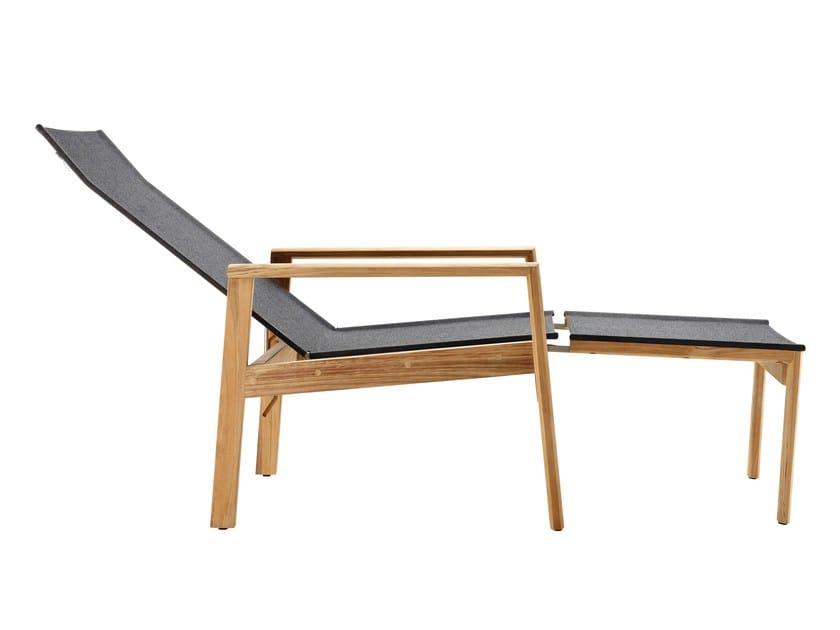 Poltrona Sdraio In Legno Con Poggiapiedi.Safari Sedia A Sdraio Con Poggiapiedi By Solpuri Design Klaus