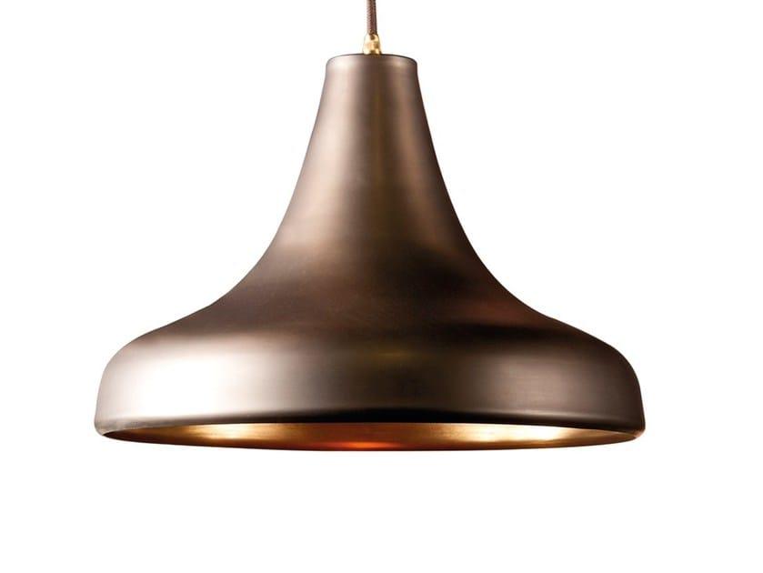 Lampada a sospensione a luce diretta in ottone SAFIO | Lampada a sospensione by Branco sobre Branco