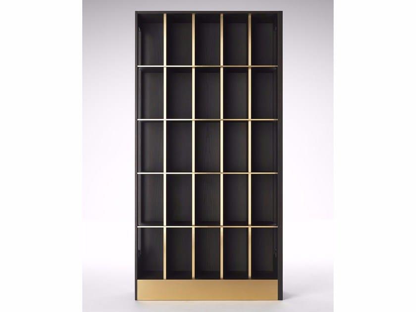 Freestanding oak bookcase SAGGIO by Paolo Castelli